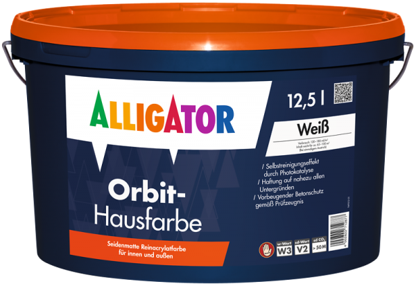 Alligator Orbit-Hausfarbe Guard Weiß