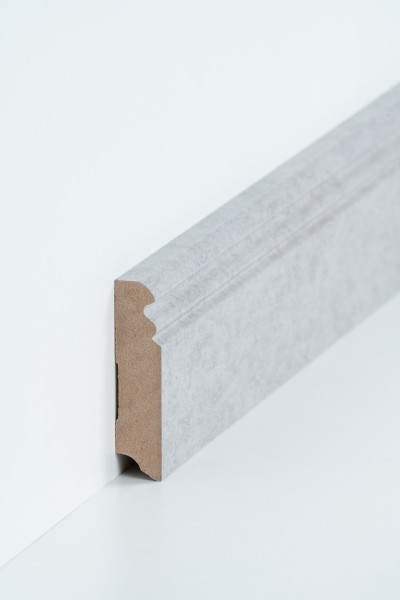 Hamburgerleiste Beton 19 x 80 mm Sockelleiste, MDF-Kern mit Dekorfolie ummantelt