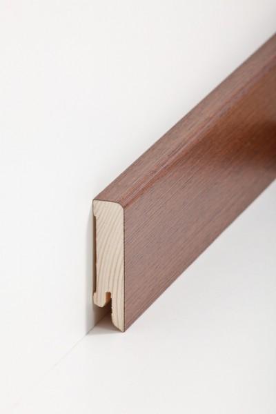 Holzsockelleiste, 16x60mm Holzkern mit Echtholz Furnier Wenge