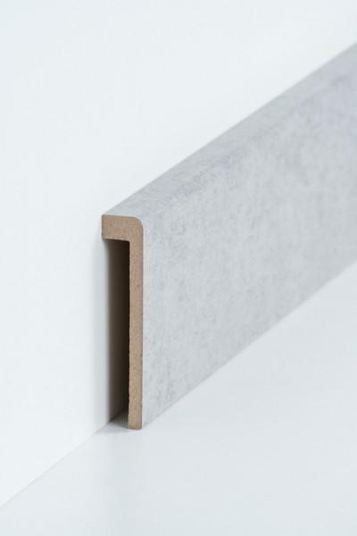 Abdeckleiste Beton Fliesensockel, 19 x 96 mm (1,3 x 85 mm), MDF-Kern mit Dekorfolie ummantelt