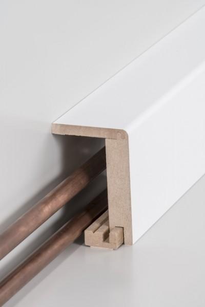 Rohrabdeckleiste (einteilig) 64 x 96 x 2500 mm, Innenmaß: 45 x 88 mm, Oberkante abgerundet