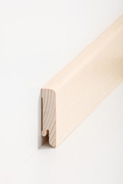Holzsockelleiste, 16x60mm Holzkern mit Echtholz Furnier Ahorn